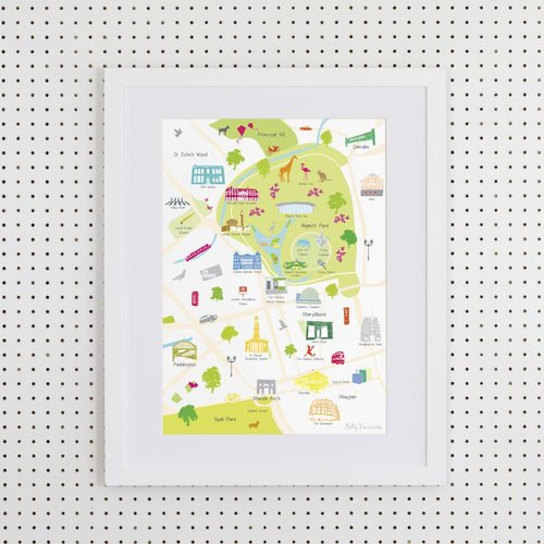 Holly Francesca Map of Regent's Park- A3