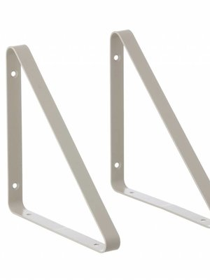 ferm LIVING Shelf Hangers - Light Grey