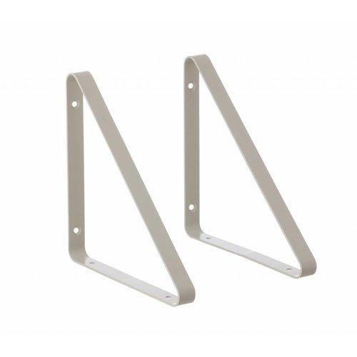 ferm LIVING Shelf Hangers - Light Grey