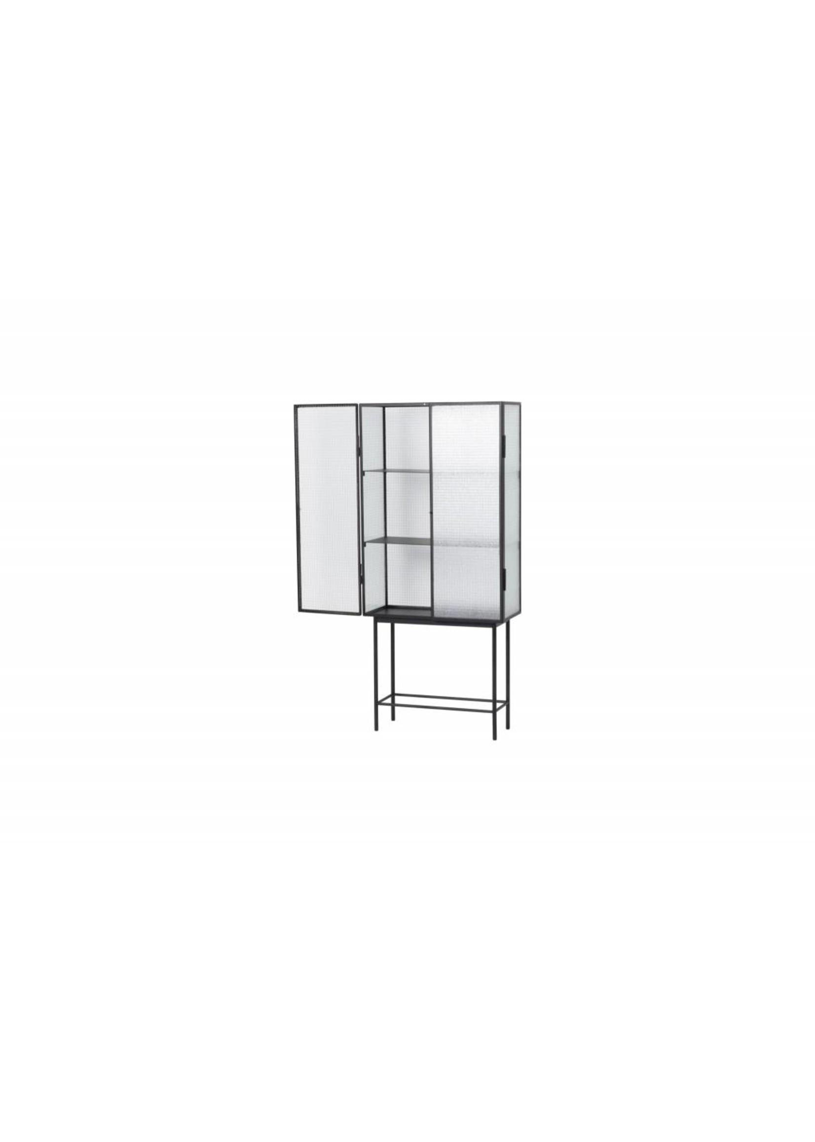 ferm LIVING Ferm Living Haze Vitrine Cabinet - Wired Glass