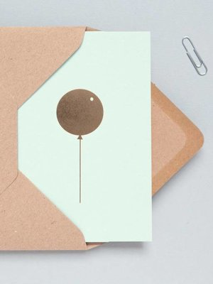 Ola Foil Blocked Cards: Balloon Mint/Brass