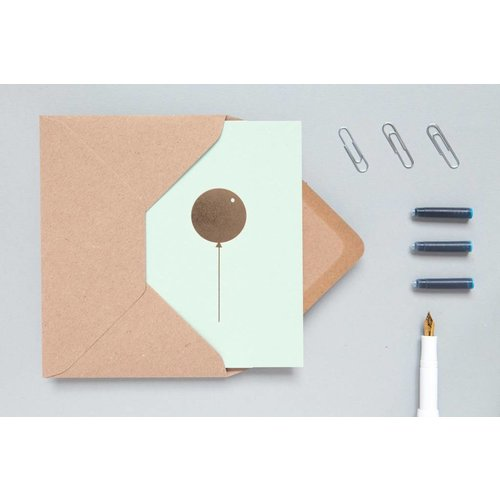 Ola Ola Foil Blocked Cards: Balloon Mint/Brass