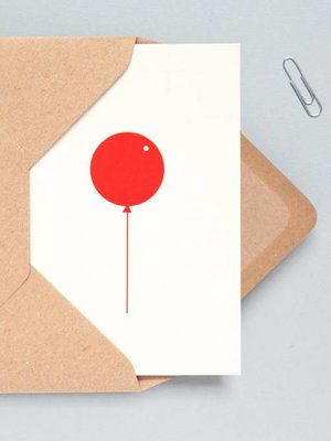 Ola Foil Blocked Cards: Balloon Stone/Red