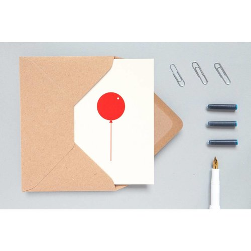 Ola Ola Foil Blocked Cards: Balloon Stone/Red