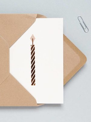 Ola Foil Blocked Cards: Candle Stone/Copper