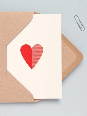 Ola Foil Blocked Cards: Heart Stone/Red