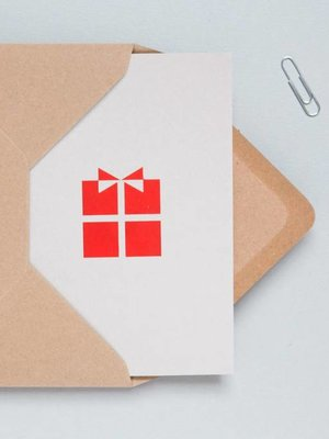 Ola Foil Blocked Cards: Present Light Grey/Red