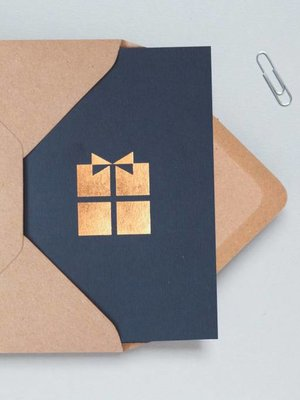 Ola Foil Blocked Cards: Present Navy/RoseGold