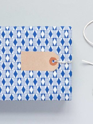 Ola Ola Patterned Papers: Diamond Print, Blue