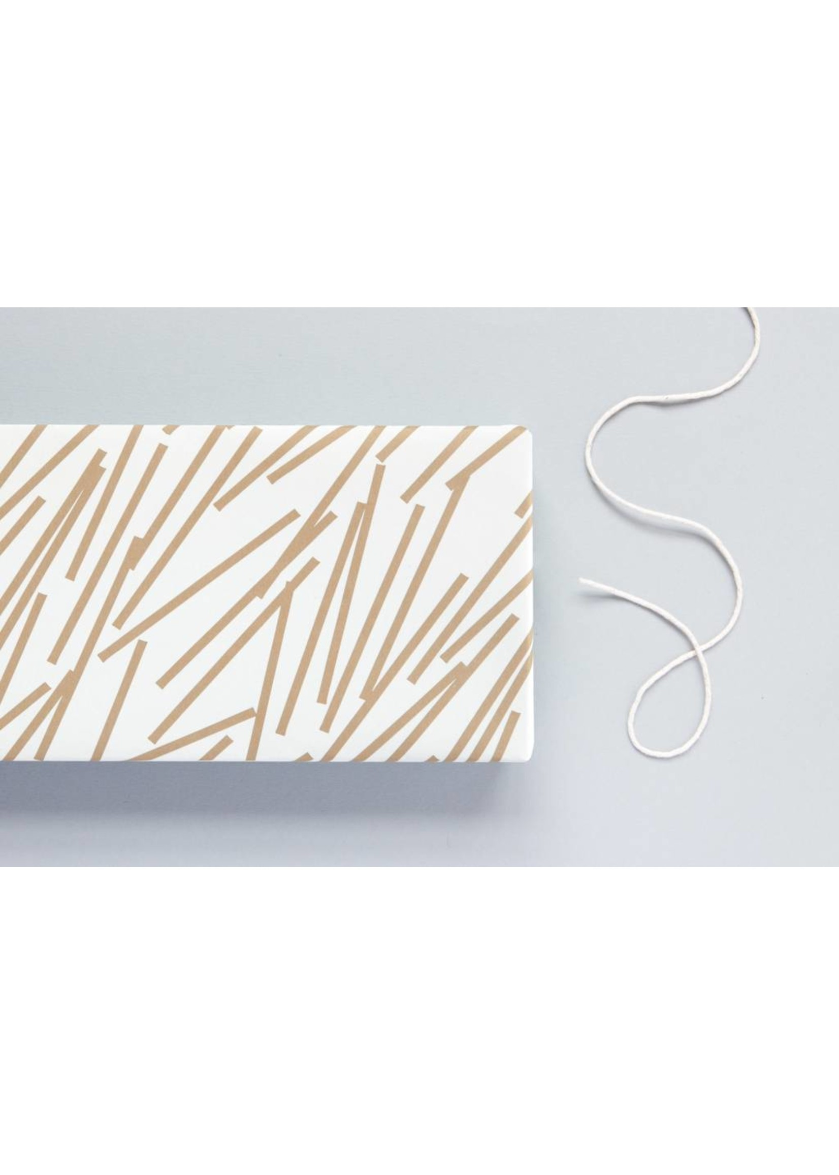 Ola Ola Patterned Papers: Lines Print, Gold