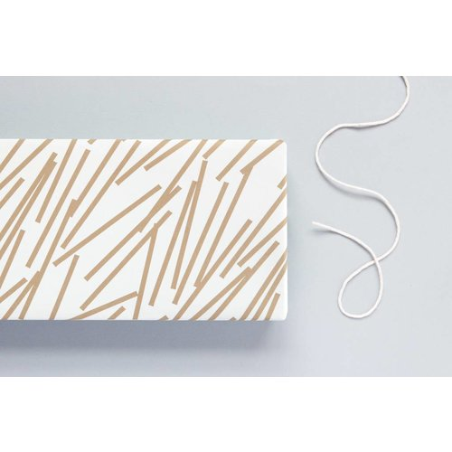 Ola Patterned Papers: Lines Print, Gold