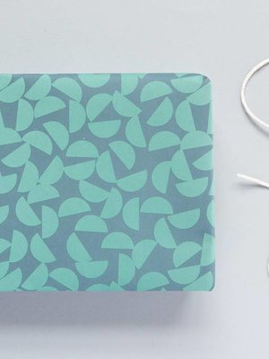 Ola Ola Patterned Papers: Maze Print, Turquoise/Slate