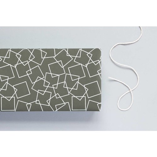 Ola Ola Patterned Papers: Squares Print, Charcoal