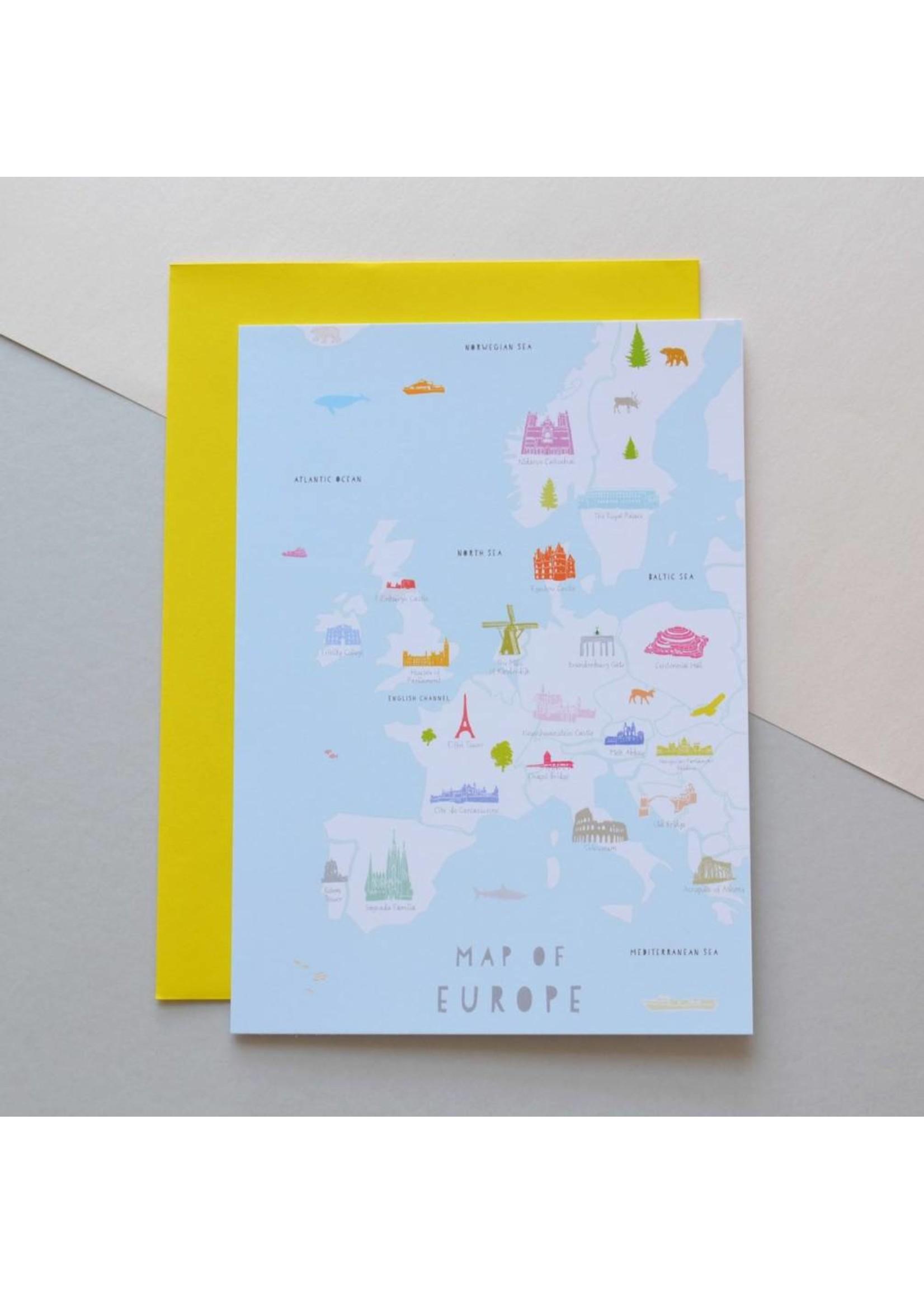 Holly Francesca Holly Francesca Map of Europe Card