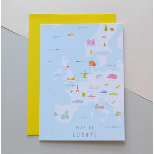Holly Francesca Holly Francesca Happy Birthday Europe Card