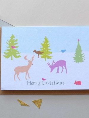 Holly Francesca Christmas Winter Wonderland Card