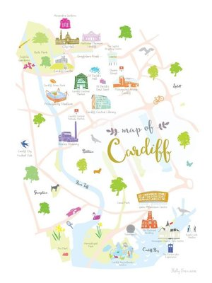 Holly Francesca Map of Cardiff A3