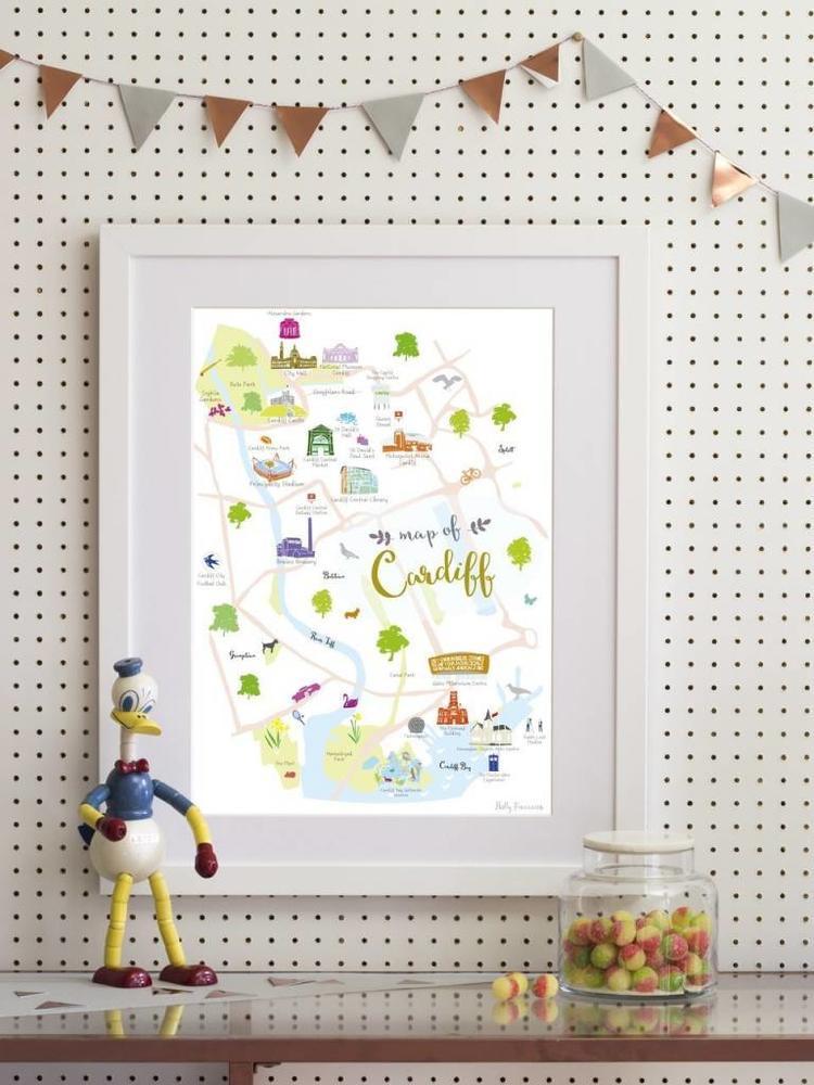 Holly Francesca Holly Francesca Map of Cardiff A3
