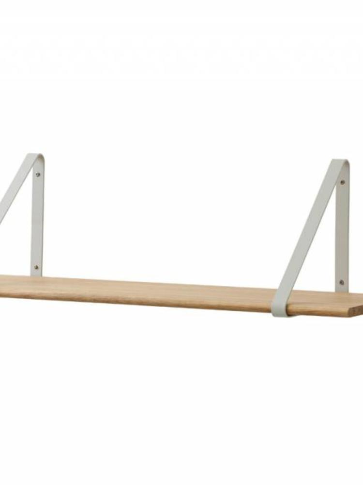 ferm LIVING Ferm Living Shelf - Oiled Oak Shelf with Grey Hangers