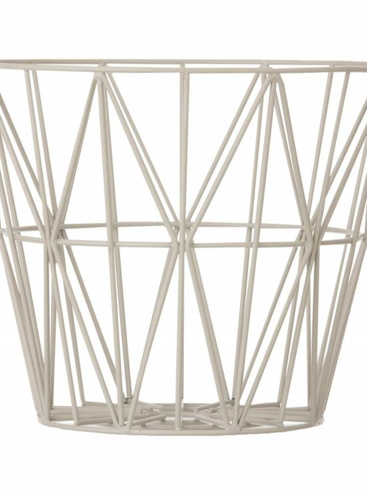 ferm LIVING Ferm Living Wire Basket Light Grey Small