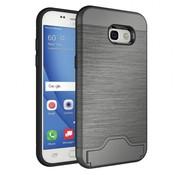 GSMWise Samsung Galaxy A5 (2017) Geborsteld Hardcase Hoesje met Pashouder en Standaard - Grijs