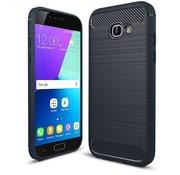 GSMWise Samsung Galaxy A5 (2017) Geborsteld TPU Back Case Hoesje - Donkerblauw