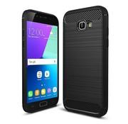 GSMWise Samsung Galaxy A5 (2017) Geborsteld TPU Back Case Hoesje - Zwart