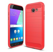 GSMWise Samsung Galaxy A5 (2017) Geborsteld TPU Back Case Hoesje - Rood