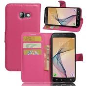 GSMWise Samsung Galaxy A5 (2017) PU lederen TPU Portemonnee hoesje met Kaarthouder Lychee - Magenta Hot Pink