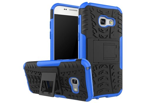 Samsung Galaxy A3 (2017) Stevig Hybride Backcover Hoesje Shockproof - Blauw