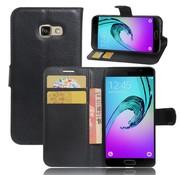 GSMWise Samsung Galaxy A3 (2017) PU lederen TPU Portemonnee hoesje met Kaarthouder Lychee - Zwart