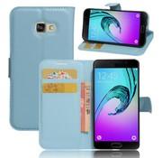 GSMWise Samsung Galaxy A3 (2017) PU lederen TPU Portemonnee hoesje met Kaarthouder Lychee - Blauw