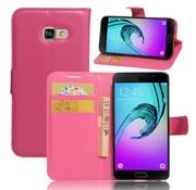 GSMWise Samsung Galaxy A3 (2017) PU lederen TPU Portemonnee hoesje met Kaarthouder Lychee - Hot Pink/Magenta