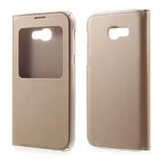 GSMWise Samsung Galaxy A3 (2017) Window View kunstleren Flip Case Hoesje - Goud