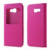 GSMWise Samsung Galaxy A3 (2017) Window View kunstleren Flip Case Hoesje - Magenta Hot Pink