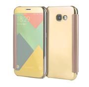 GSMWise Samsung Galaxy A3 (2017) Doorzichtige Window View Book Case - Goud