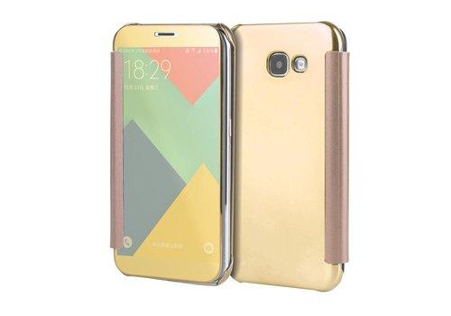 Samsung Galaxy A3 (2017) Doorzichtige Window View Book Case - Goud