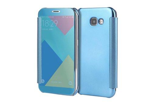 Samsung Galaxy A3 (2017) Doorzichtige Window View Book Case - Licht Blauw