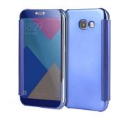 GSMWise Samsung Galaxy A3 (2017) Doorzichtige Window View Book Case - Donker Blauw