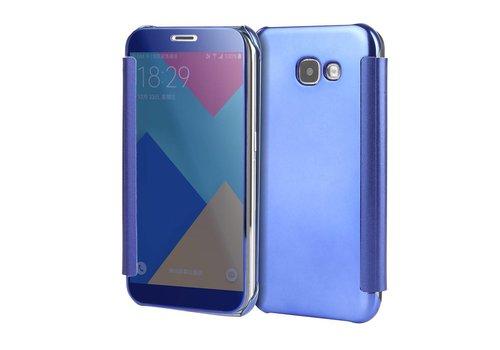 Samsung Galaxy A3 (2017) Doorzichtige Window View Book Case - Donker Blauw