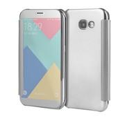 GSMWise Samsung Galaxy A3 (2017) Doorzichtige Window View Book Case - Zilver