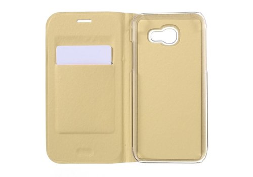 Samsung Galaxy A3 (2017) Luxe Flipcover Hoesje - Book Case Cover - Lychee Goud