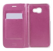 GSMWise Samsung Galaxy A3 (2017) Luxe Flipcover Hoesje - Book Case Cover - Lyche Licht Roze