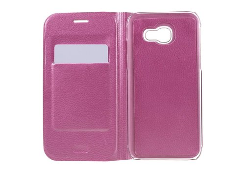 Samsung Galaxy A3 (2017) Luxe Flipcover Hoesje - Book Case Cover - Lyche Licht Roze