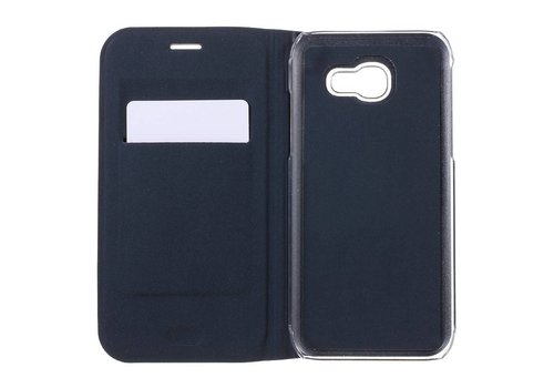 Samsung Galaxy A3 (2017) Luxe Flipcover Hoesje - Book Case Cover - Lyche Donker Blauw