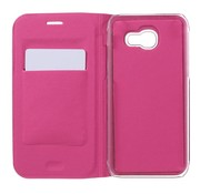 GSMWise Samsung Galaxy A3 (2017) Luxe Flipcover Hoesje - Book Case Cover - Lyche Donker Roze