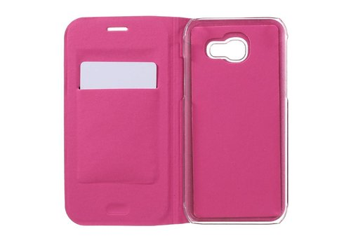 Samsung Galaxy A3 (2017) Luxe Flipcover Hoesje - Book Case Cover - Lyche Donker Roze