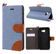 GSMWise Samsung Galaxy A3 (2017) Wallet Case Hoesje - Dutch Design Denim en Leer - Licht Blauw