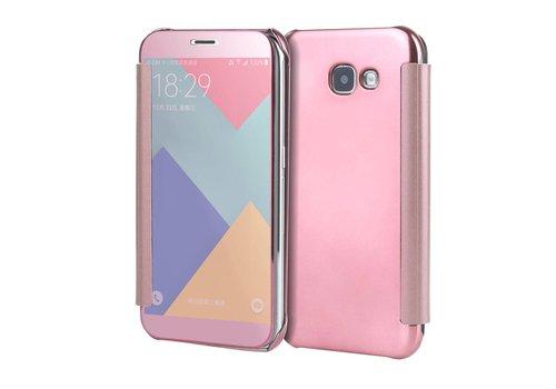 Samsung Galaxy A3 (2017) Doorzichtige Window View Book Case - Roze