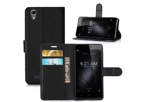 Huawei P10 - PU lederen TPU Portemonnee hoesje met Kaarthouder Lychee - Zwart